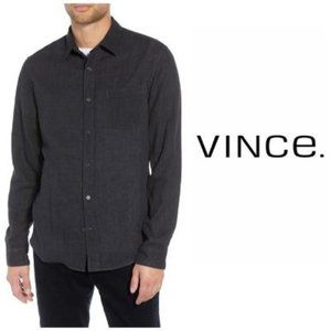 Vince Mens Black Classic Fit Knit Shirt Sz XL NWT